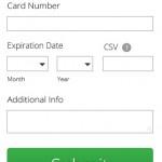 Homepage mobile mockup. Giving form detail.