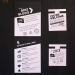 Bike BloNo general handout (L) and free bike light tag (R).