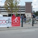 Good To Go valet bike parking event with modular event banners.