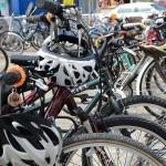 Detail of valet bike tagging system, also part of a designed solution.