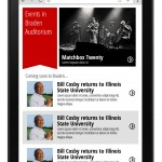 Tablet homepage mockup of Braden Auditorium section.