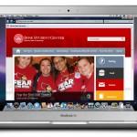 Desktop homepage mockup.