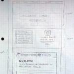 Housing Homepage sketch. Sketch by Jacob DeGeal.