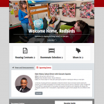 Housing homepage. Large welcoming image mix with direct calls to action and simple announcements. Prototype and build also by Mary Macin.