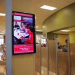Contextual advertising – Digital signage for dining guide in dining center.