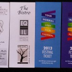 Festival Tickets – back and front
