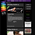 Festival Website – show page.