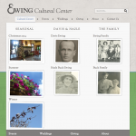 Cultural Center page featuring seasonal and historic photo albums