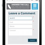 Comment UI mockup for mobile.