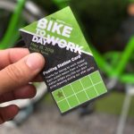 Fueling Station card in use. Photo credit: Bike Austin.