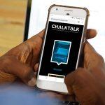 The ChalkTalk website in mobile view.