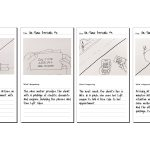 Original storyboards visualizing the benefits of transportation perks package, originally titled On-Time Arrivals. This concept evolved into a text-based interaction that matched clients' preferred and most often used communication method.