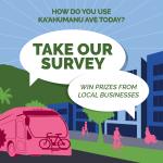 Ka'ahumanu Ave Community Corridor social ad for survey